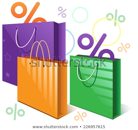 Shopping bags and falling interest Stock photo © orensila