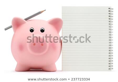 Piggy Bank and notepaper Stock photo © devon