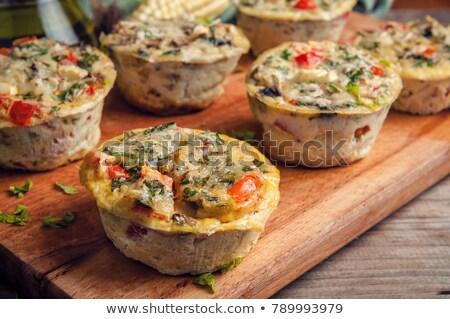 mini · muffin · diéta · muffinok · kegyetlenség · háttér - stock fotó © joannawnuk