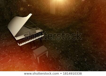 Müzik içinde siyah beyaz soyut vektör müzikal Stok fotoğraf © tracer