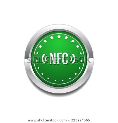 Körkörös vektor zöld webes ikon gomb telefon Stock fotó © rizwanali3d