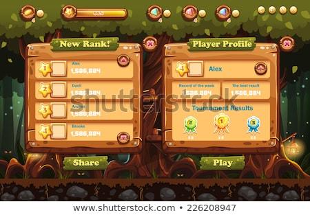 ゲーム インターフェース セット 孤立した ストックフォト © arlatis