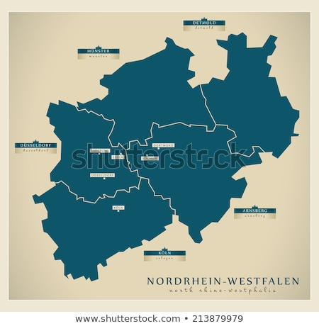 Map of North Rhine-Westphalia and Ruhr area Stock photo © Ustofre9