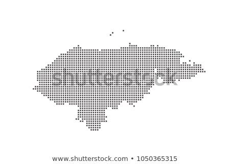 ホンジュラス · 政治的 · 地図 · 重要 · 都市 - ストックフォト © istanbul2009