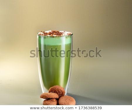 Groene vieren St Patrick's Day voorjaar glas melk Stockfoto © BarbaraNeveu