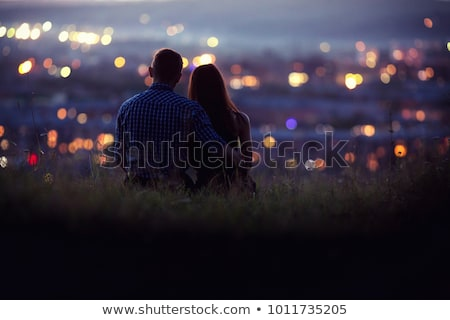 Girl and boy in the embrace Stock photo © maros_b