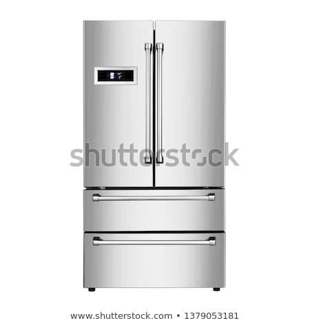 moderne · koelkast · geïsoleerd · witte · model · keuken - stockfoto © ozaiachin