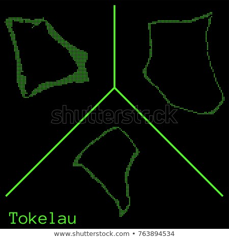 Map of Tokelau with Dot Pattern Stock photo © Istanbul2009