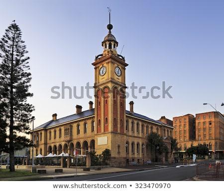 Vám ház Ausztrália Newcastle helyi tájékozódási pont Stock fotó © jeayesy