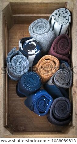 warm · sokken · wol · geïsoleerd · witte · natuurlijke - stockfoto © ruslanomega
