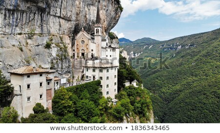 old convent above cliffs Stock photo © morrbyte