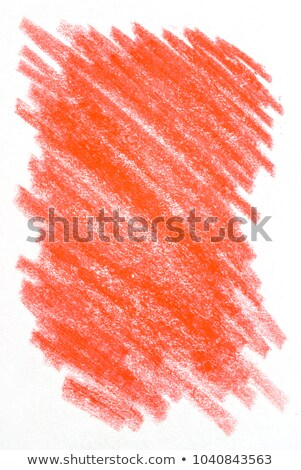 Abstract red crayon scribble on white paper background. Stock photo © latent