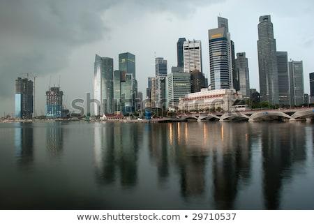 дождливый Сингапур центра ядро небе воды Сток-фото © joyr