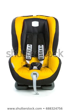 Stock fotó: Autó · ülés · izolált · fehér · gyermek · háttér