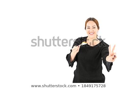 Giovani sushi dita attrattivo Foto d'archivio © uleiber