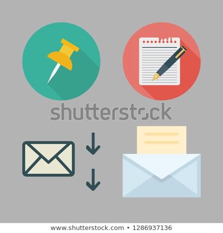 送信 赤 付箋 ベクトル アイコン デザイン ストックフォト © rizwanali3d