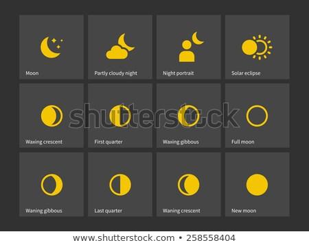 Moon through one month icons. Stock photo © tkacchuk