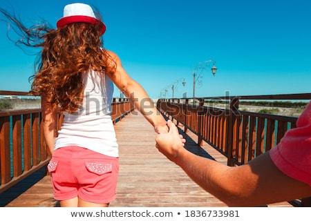 Plaj köprü stok görüntü Stok fotoğraf © Blackdiamond