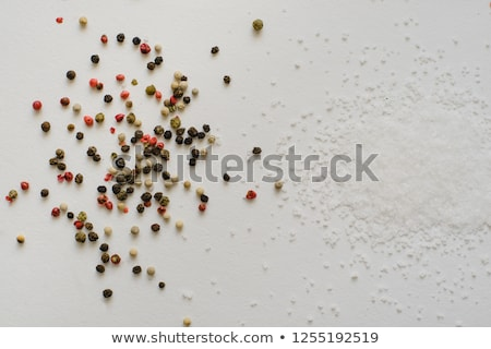 Large sea salt with red and black pepper Stock photo © mcherevan