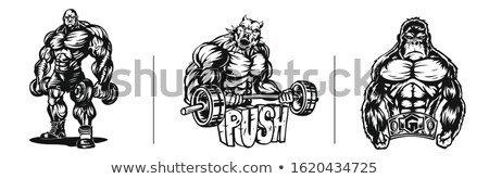 Strict fitness model Stock photo © bezikus