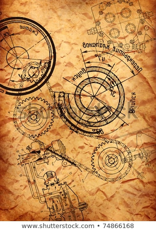 Technological Revival Concept. Blueprint of Gears. Stock photo © tashatuvango