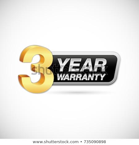 3 Years Warranty Golden Vector Icon Button Stock photo © rizwanali3d
