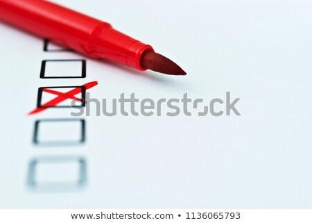 marcador · cores · plástico · isolado · branco - foto stock © tetkoren
