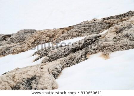 único mistura neve água em movimento Foto stock © dinozzaver