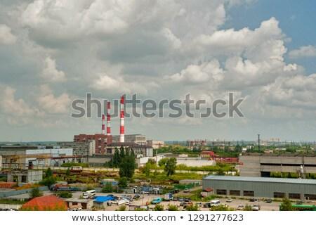 nucléaire · centrale · cheminée · bâtiment · technologie · industrie - photo stock © aikon
