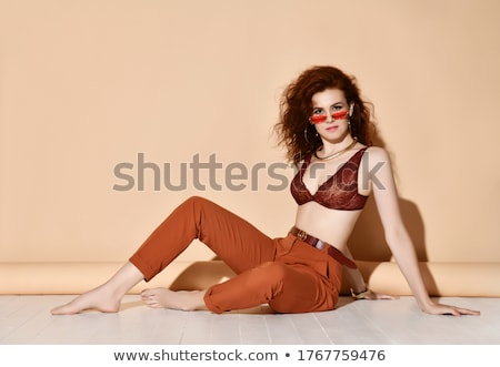 Young attractive girl in bra and lace underwear.  The concept of Stock photo © prg0383