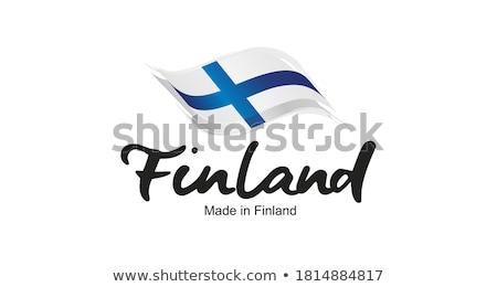 Finlândia país bandeira mapa forma texto Foto stock © tony4urban