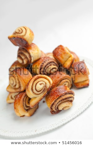 two sweet buns with cinnamon Stock photo © PetrMalyshev