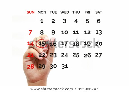 Calendar with circle on 15 Stock photo © mblach
