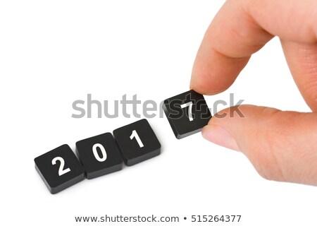 3d emberek tart boldog új évet 3d illusztráció férfi 3D Stock fotó © ribah
