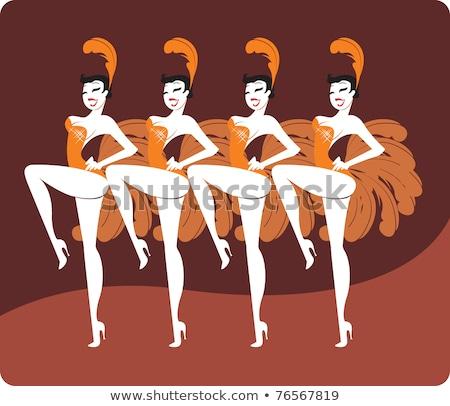 kabaré · tánc · lányok · táncos · előadás · nő - stock fotó © jossdiim