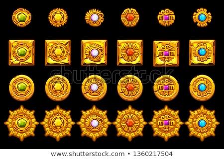 szimbólumok · állat · absztrakt · narancs · maszk · fekete - stock fotó © sdmix