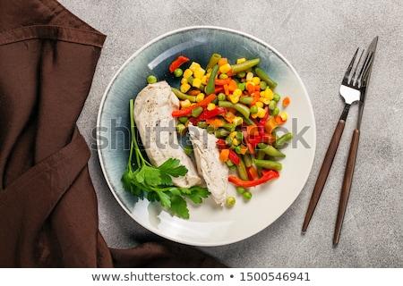 куриные овощей горох кукурузы морковь Сток-фото © x3mwoman