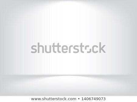 bianco · muro · spot · luce · muro · di · mattoni - foto d'archivio © cherezoff