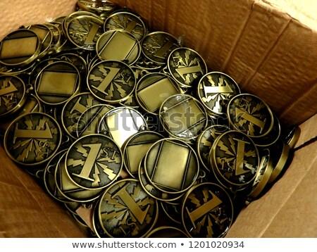 absztrakt · acél · dobozok · üzlet · háttér · keret - stock fotó © monarx3d
