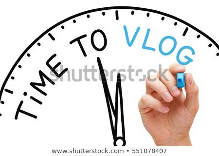 Vlogging Blue Marker Stock photo © ivelin