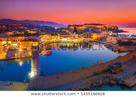 Stad panorama Griekenland strand Stockfoto © tony4urban