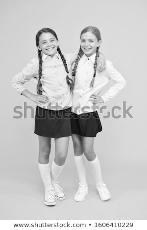 Stock photo: girl with plait