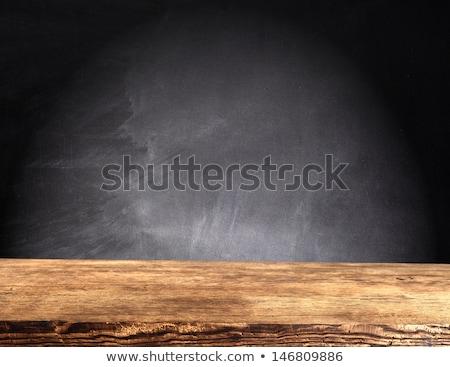 Istruzione tavolo in legno parola ufficio bambino lettera Foto d'archivio © fuzzbones0