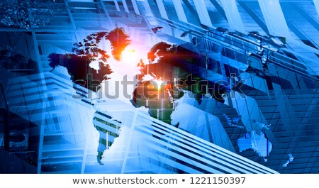 Business Markt Analyse Hintergrund Stadt Graphen Stock foto © alphaspirit