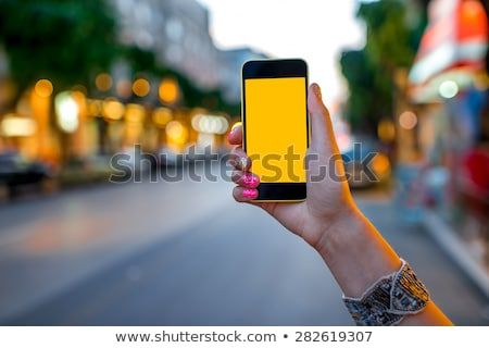 Femminile turistica mobile GPS navigazione Foto d'archivio © stevanovicigor