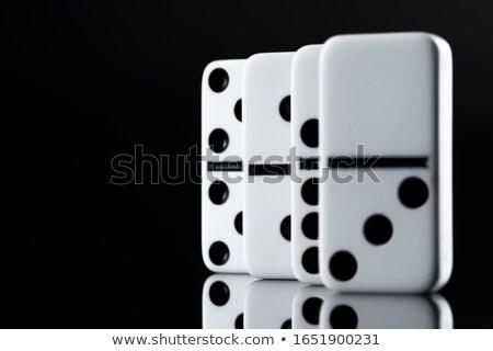 Stockfoto: Geïsoleerd · witte · teken · groep · baksteen
