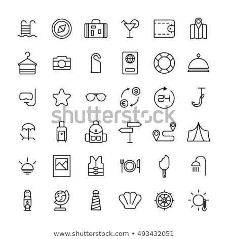 szett · szabadtér · nyár · kempingezés · ikon · szett · ikonok - stock fotó © angelp