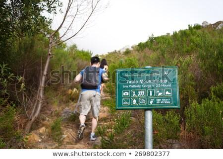 kirándulás · asztal · hegy · természetjáró · útvonal · Fokváros - stock fotó © thp
