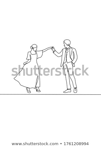 two cheerful girlfriends celebrating engagement with veil and champagne bottle stock photo © deandrobot