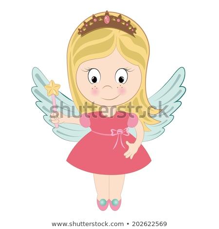 hercegnő · minta · végtelen · minta · dolgok · gyerekek · rózsa - stock fotó © vectorworks51
